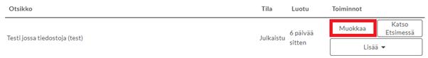 """Kuva käyttöliittymästä. Punaisella merkitty """"Muokkaa""""-painike"""